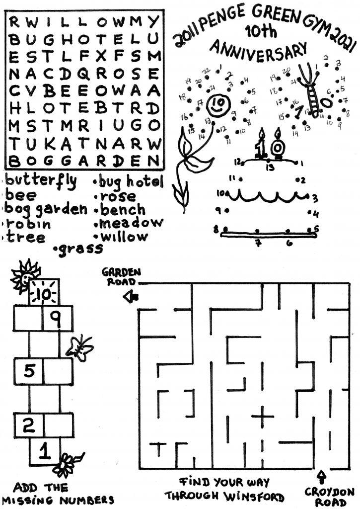 Winsford Gardens Puzzle Sheet