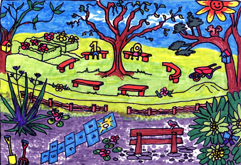 Winsford Gardens Coloured In Sheet