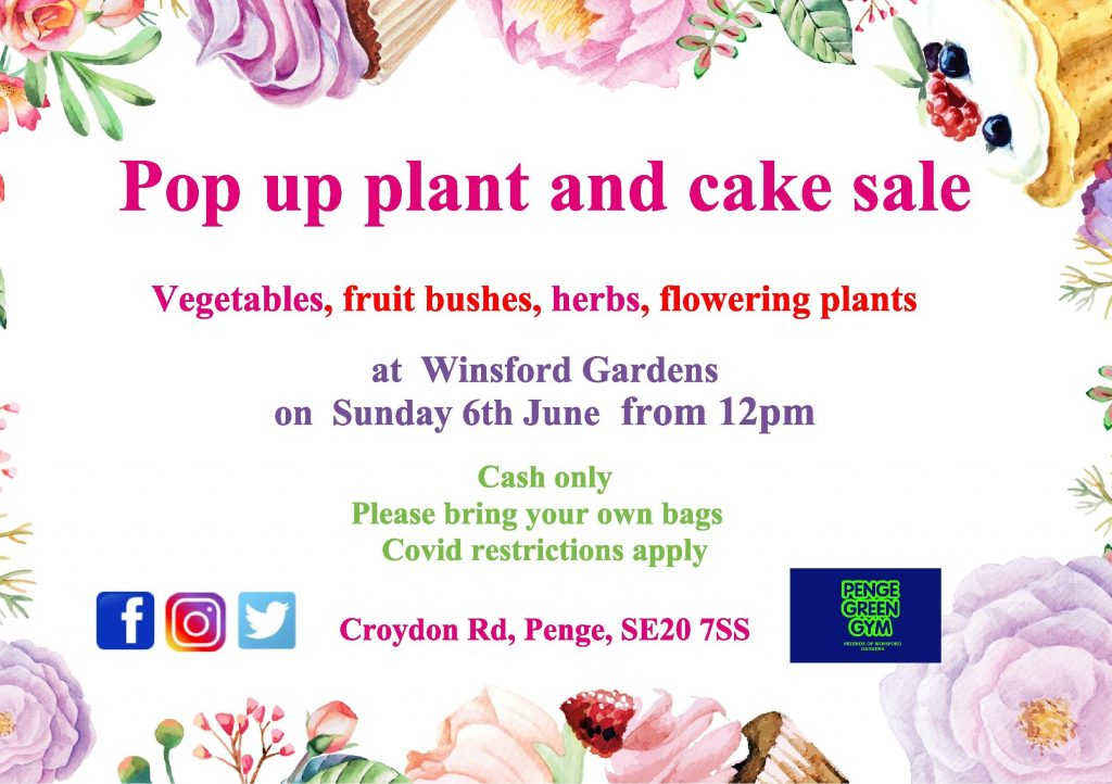 Pop up plant and cake sale